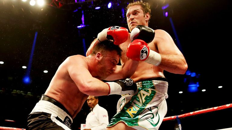 Tyson Fury: Floored Joey Abell four times on the way to victory.