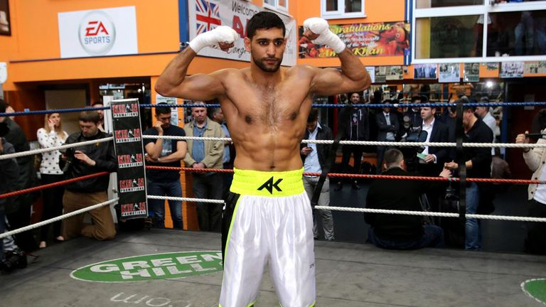 Amir Khan: Determined to remain in Floyd Mayweather's thoughts