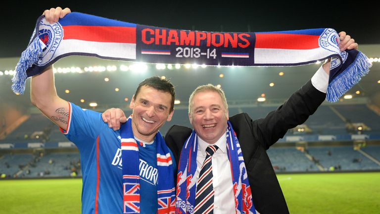 Ally McCoist and Lee McCulloch: Enjoy title-winning victory
