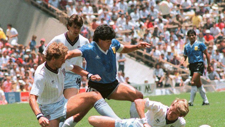 نتيجة بحث الصور عن maradona world cup 1986