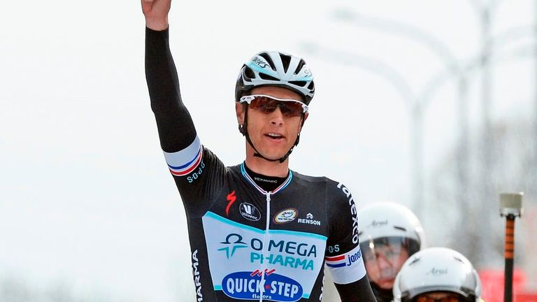 Niki Terpstra launched his winning attack 30km out