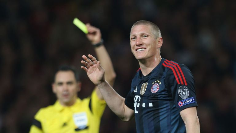 Bastian Schweinsteiger was dismissed for two bookable offences