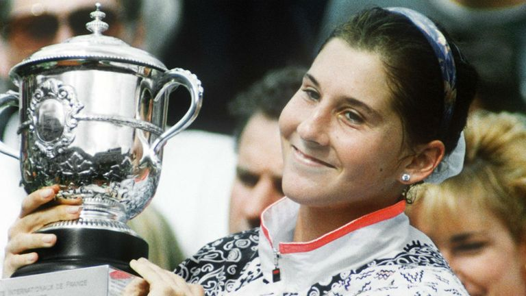 Seles won eight Grand Slams in three years