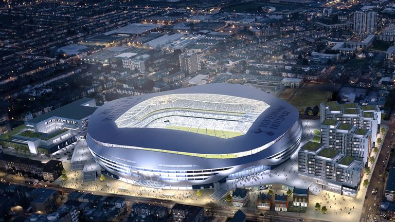 A view of Tottenham's new stadium