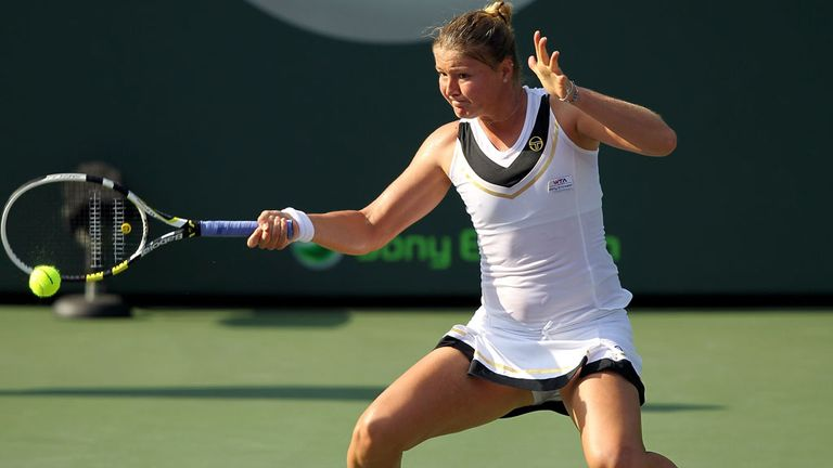 Dinara Safina in action during 2011