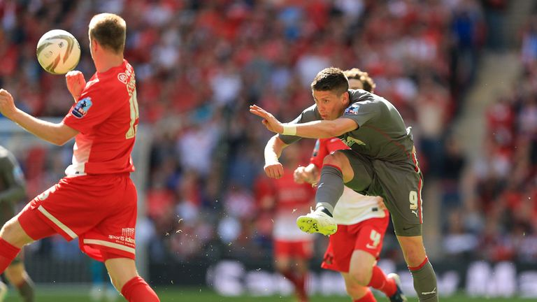 Alex Revell (right): Equalises for Rotherham during normal time