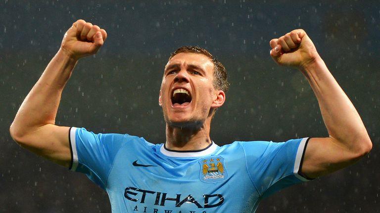Edin Dzeko scored 50 Premier League goals in 130 appearances for Man City