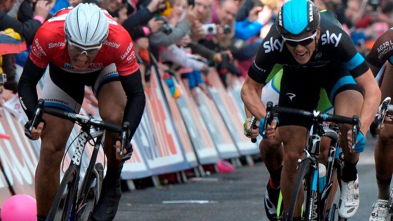 Marcel Kittel beats Ben Swift to win stage three of the 2014 Giro d'Italia
