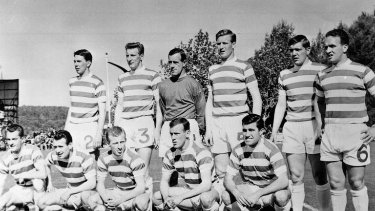 Celtic's 'Lisbon Lions' defeated Inter in the 1967 European Cup final