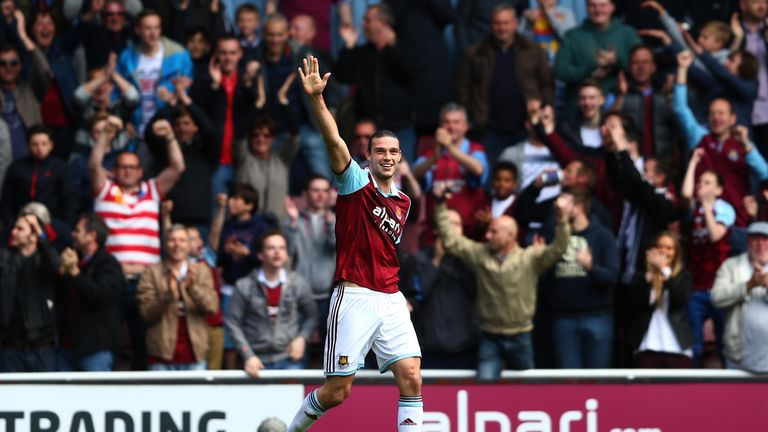 Andy Carroll: Helped West Ham into the lead