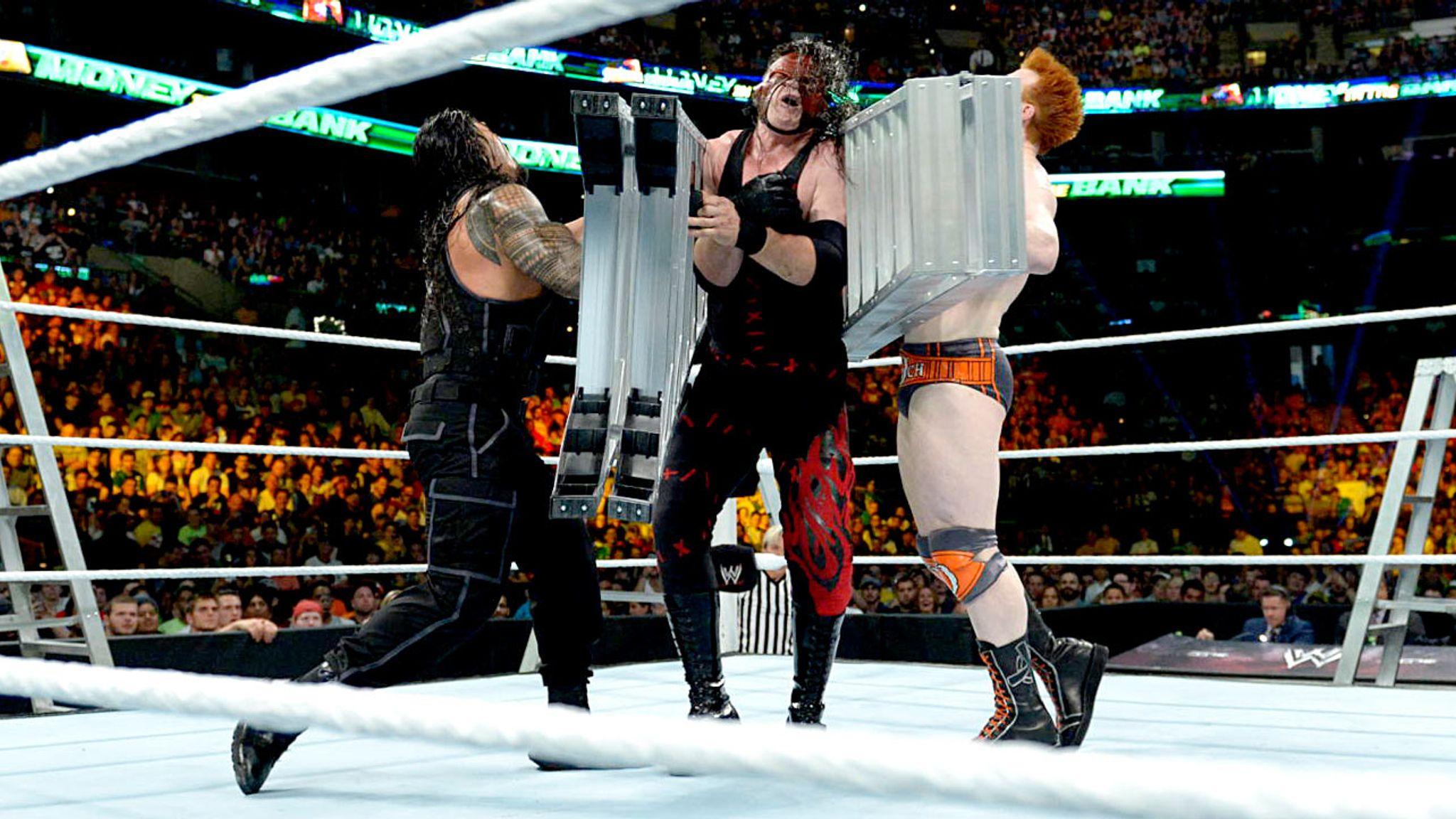 Money In The Bank 2014 John Cena Wins Wwe World Heavyweight Title In Ladder Match Wwe News Sky Sports
