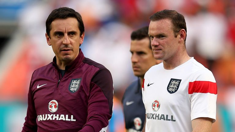 Neville and Rooney were team-mates with club and country, and also worked together when Neville joined the England coaching staff