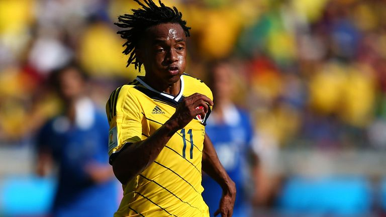 Juan Guillermo Cuadrado: Impressing for Colombia at the World Cup
