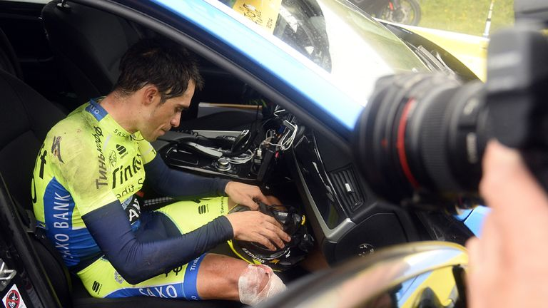 Contador retires from the race