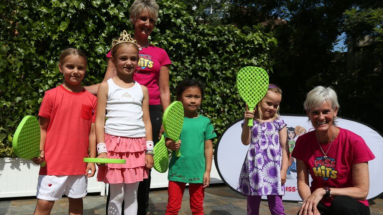 Judy Murray's Miss-Hits programme aims to get more young girls hitting the tennis courts