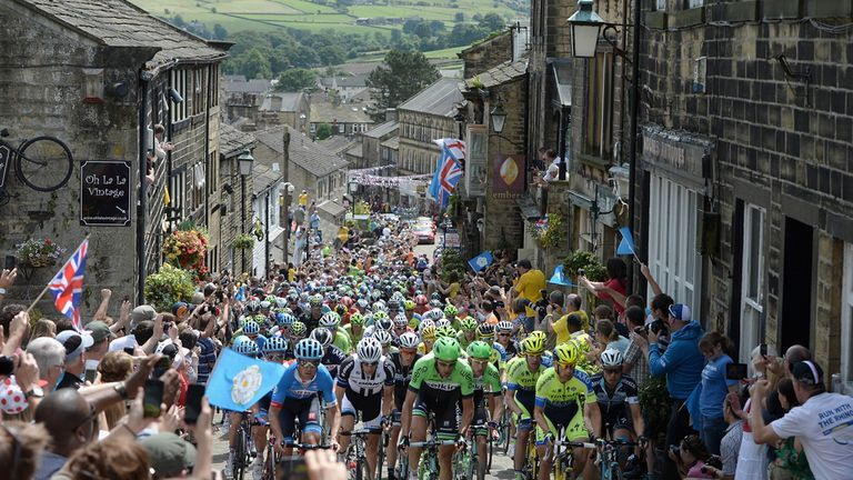 The peloton making its way through Haworth on stage two was a lasting image of the Grand Depart