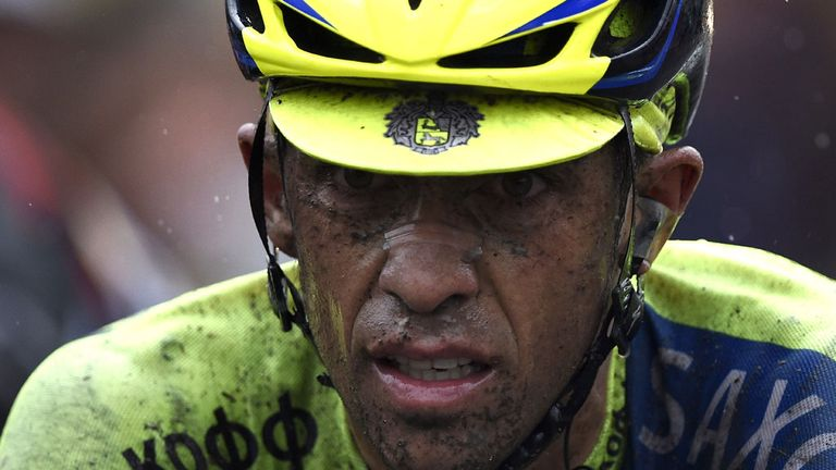 Alberto Contador was barely recognisable after the struggles of stage five