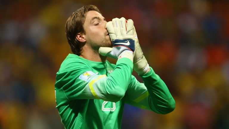 Tim Krul: Previously spent six weeks on the sidelines with an elbow problem