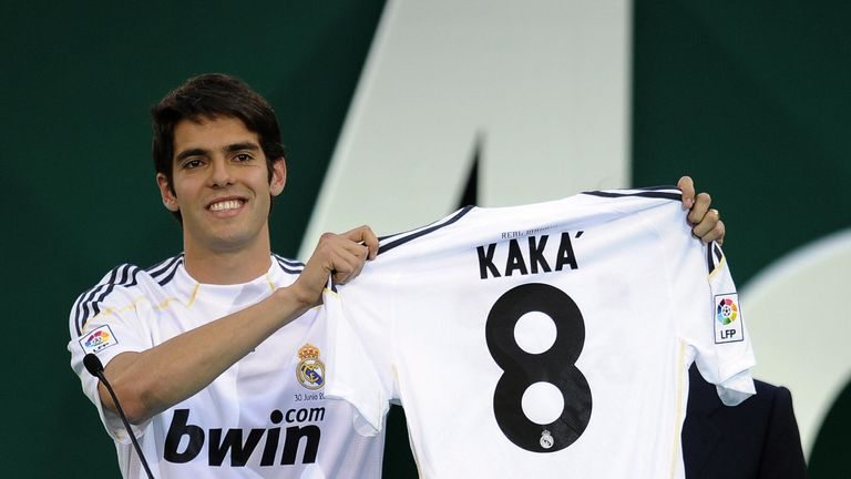 Kaka was briefly the world's most expensive player
