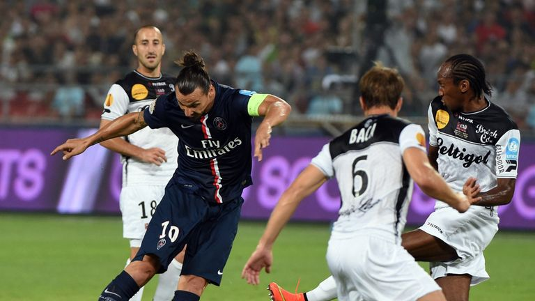 Zlatan Ibrahimovic: Scores the first of his two goals for PSG