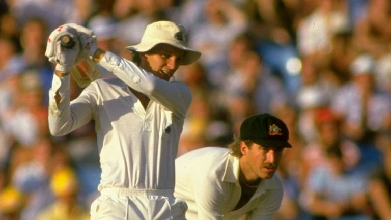 David Gower caresses through the off-side