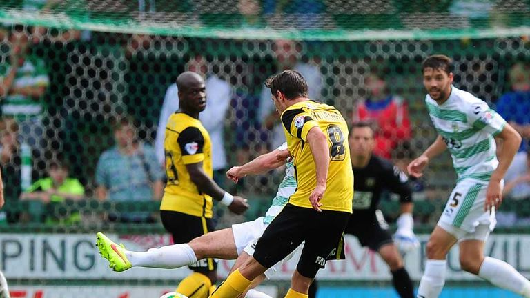 Hourihane: Strikes superb goal at Yeovil