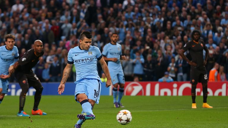 Sergio Aguero gave Manchester City an early lead but it proved to be a tough night