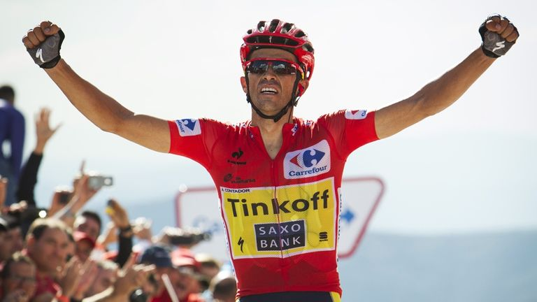 Alberto Contador claimed his second stage win of the race