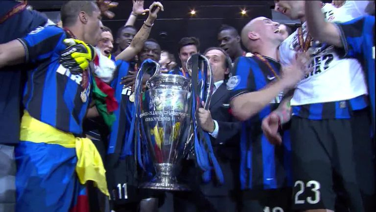 Inter won the treble in 2010 in Jose Mourinho's second season in Milan