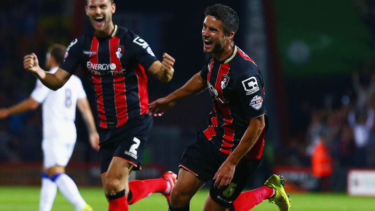 Andrew Surman: Opened the scoring for new leaders Bournemouth