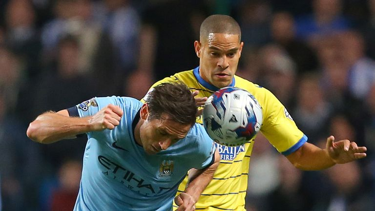 Lampard challenges with Giles Coke