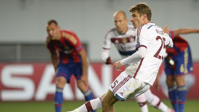 Thomas Muller: Scores the winner from the penalty spot