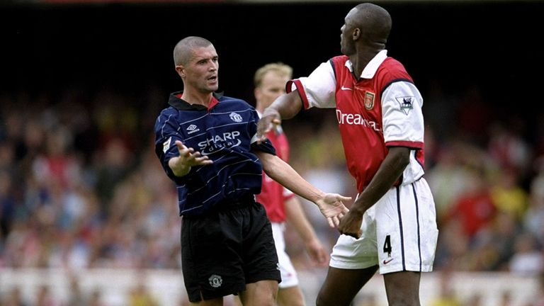The Frenchman had a number of high-profile run-ins with Manchester United's Roy Keane