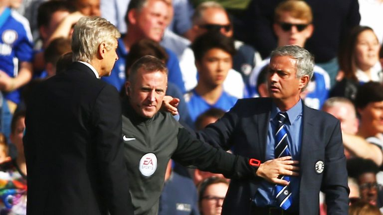 There is no love lost between Mourinho and Arsene Wenger