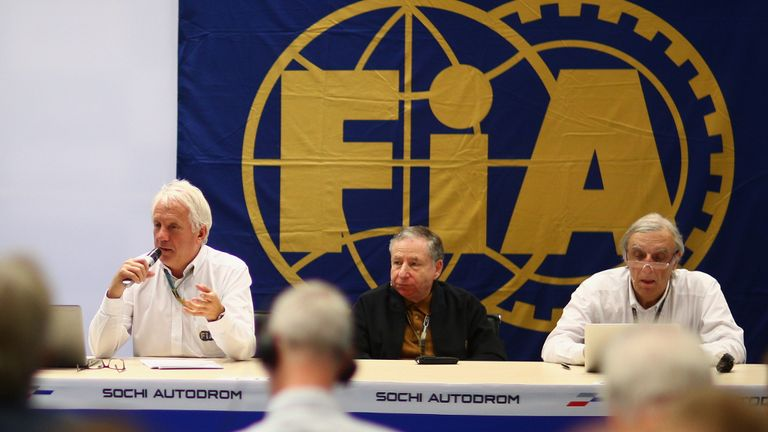 Safety improvements: FIA's Charlie Whiting with President Jean Todt