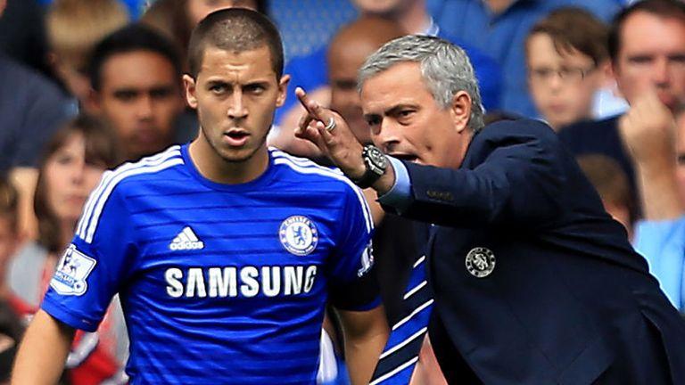 Hazard's performances under Mourinho were mixed
