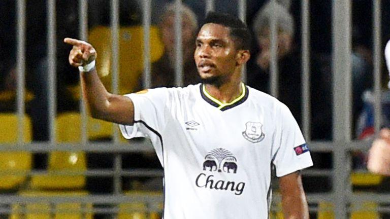 Samuel Eto'o: Levelled for Everton in the closing stages against Krasnodar
