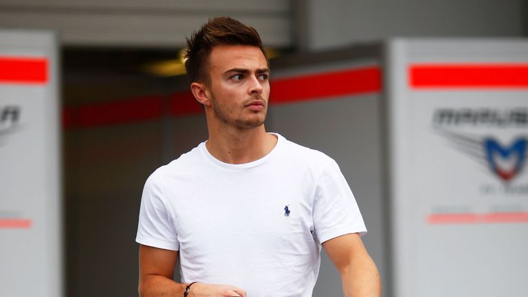 Will Stevens leaves the Marussia garage at Suzuka on Thursday