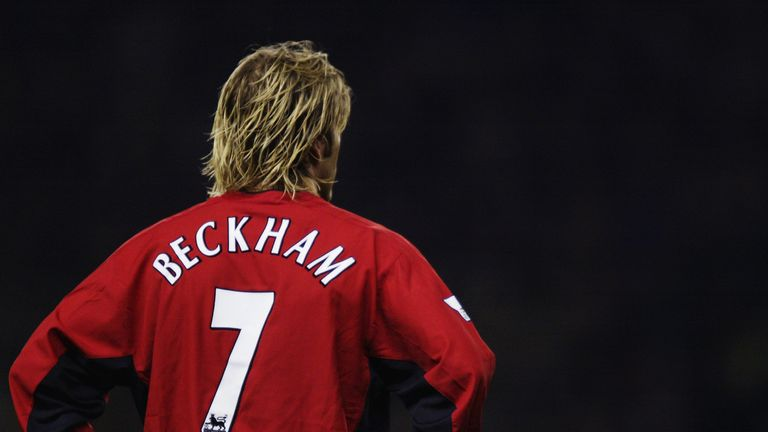 David Beckham played for Man Utd for 11 years , before joining Real Madrid in 2003