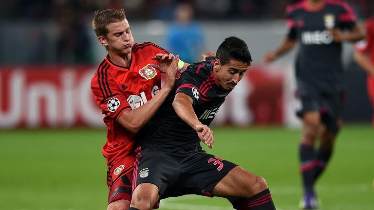Lars Bender: Battles with Benfica midfielder Enzo Perez