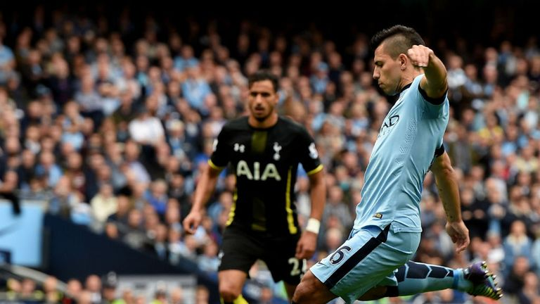 Sergio Aguero: Missed one spot-kick, but converted two