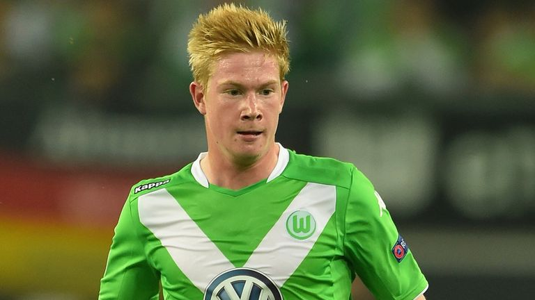 Wolfsburg's Kevin De Bruyne has been in superb form this season, scoring 14 goals in 36 appearances.