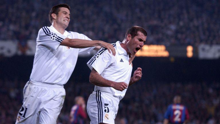 Zinedine Zidane spent five seasons as a player at Real Madrid