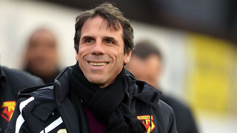 Zola pictured during his time in charge at Vicarage Road