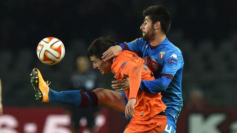 Benassi and Castillo: Torino drew 0-0 with Club Brugge