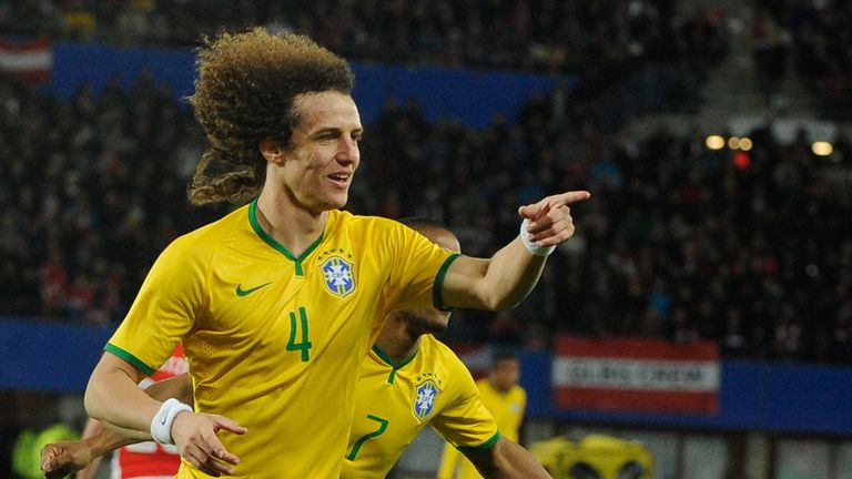 David Luiz: Celebrates his goal