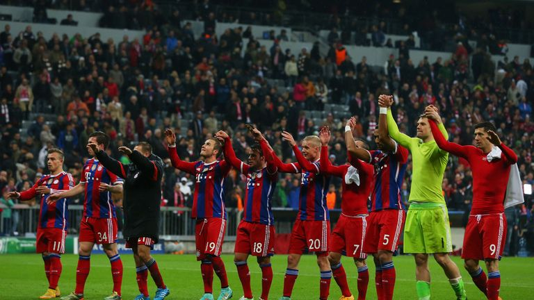 Bayern Munich: Four wins out of four in this season's Champions League