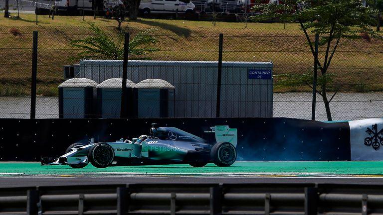 Lewis Hamilton spins