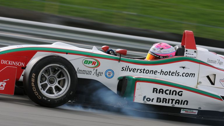 Alice Powell in British F3 action