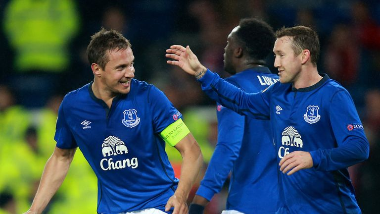 Jagielka made it 2-0 with a header